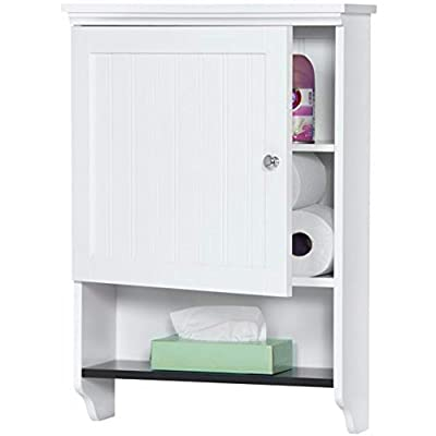 Above Toilet Storage Cabinet Wall Mount Storage Space Saver Bathroom Practical Indoor Open Shelf Bathroom Organizer Furniture & Ebook by Easy2Find. - Above Toilet Storage Cabinet is a Practical Wall Mount Bathroom Storage Cabinet for Every Bathroom Decor. The open Lower shelf along with the Enclosed ones of theAbove Toilet Storage Cabinet will Help you Organize your Everyday Items and will Stand in Many Bathroom Decorations. Combine Practicality with Modern All time Classic Design with the Perfect ool for the Job. - shelves-cabinets, bathroom-fixtures-hardware, bathroom - 41XU71X5uFL. SS400  -