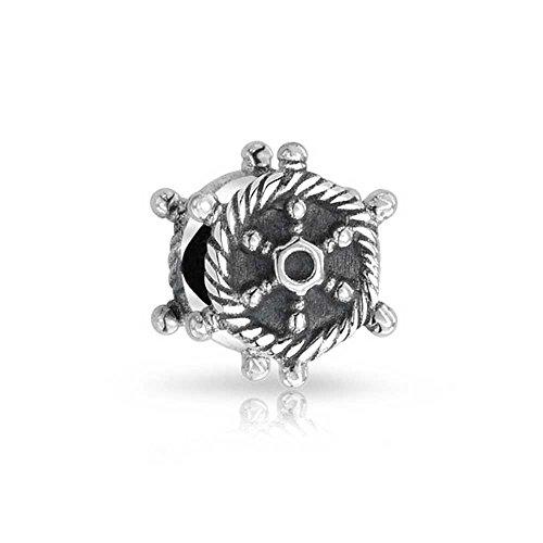 Argent sterling 925Corde nautique Bateau de roue pour bracelet Pandora Charm
