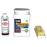 Host Dry Carpet Cleaning Kit Contains 2.5 Shaker, 8oz Spot Remover and Carpet Brush # C12100