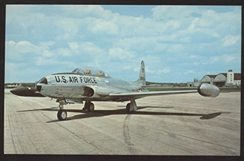 Lockheed T-33A Shooting Start JET TRAINER U.S. Air Force Airplane Postcard