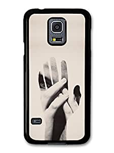 Hands Double Exposure Photography Technique in Hipster Black and White Style case for Samsung Galaxy S5 mini