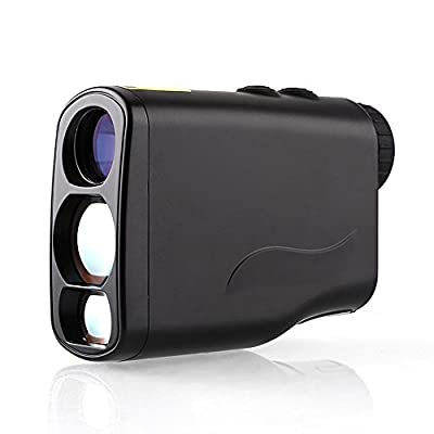 Amzdeal Digital Laser Golf Rangefinder with PinSeeker,Perfect for Golf ,Hunting and Racing(Black)