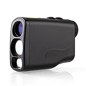 Amzdeal Waterproof Golf Laser Rangefinder with Pinseeker and Free Battery for Golf, Racing and Hunting