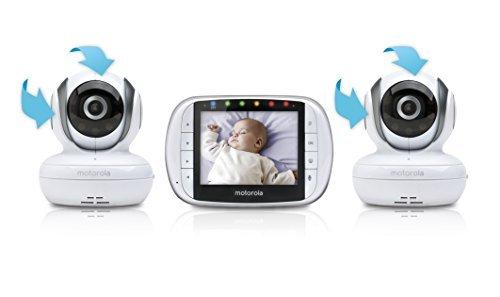 Motorola Video Baby Monitor with 2 Cameras, 3.5 Inch LCD Screen (Motorola Split Screen)