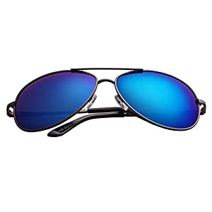 Aoron Aviator Pilot Polarized Mirror Sunglasses for Men