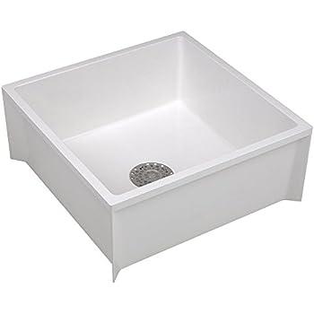 Mop Sink, White, 24 In L