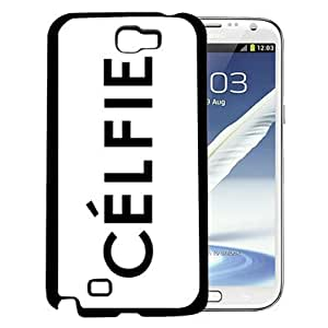 Celfie Word in Black Uppercase Letters with White Background Hard Snap on Cell Phone Case Cover Samsung Galaxy Note 2 N7100