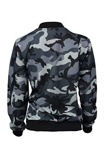 Di Lunghe Outdoor Giacca Grau Bomber Bolawoo Casuale Camuffare Fashion Maniche Mode Sciolto Outwear Marca Military Primaverile Eleganti Corto Autunno Giacche Donna vTqqB6xwf