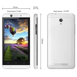 4,7 pulgadas K7 Android 4.2 teléfono elegante 3G MTK6589 Quad Core 1.2GHz HD 720 IPS pantalla 4GB ROM 12.5MP cámara GPS - Plateado