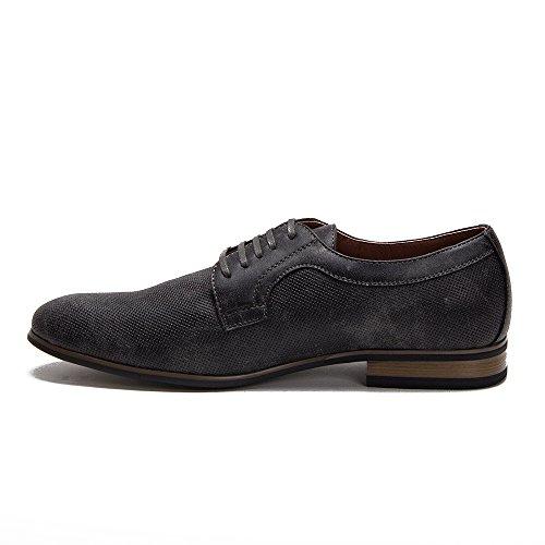 Ferro Aldo Heren 19380dl Geperforeerde, Met Leer Gevoerde, Veterboots Van Oxford-schoenen Grijs