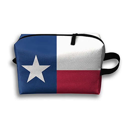 Price comparison product image Texas Flag Portable Bag Toiletry Bag Canvas Bag Weekend Bag