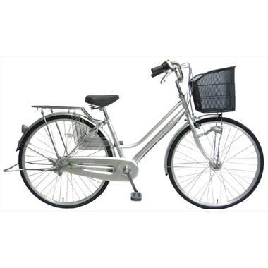 ジャスパー (JASPER) シルバー 27インチ シマノ内装3段変速 LEDオートライト ローラーブレーキ BAA 軽快自転車 ママチャリ B00PVW9I8M