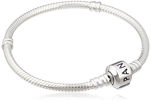 PANDORA Sterling Silver Barrel Clasp Bracelet 6.7 Inch (Barrel Link Bracelet)
