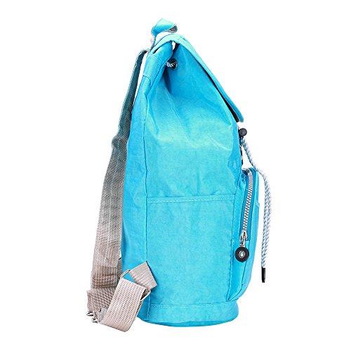 Minimalist School of Wind Kapazität Solid-farbigen Rucksack/ solid Color Frau-blau