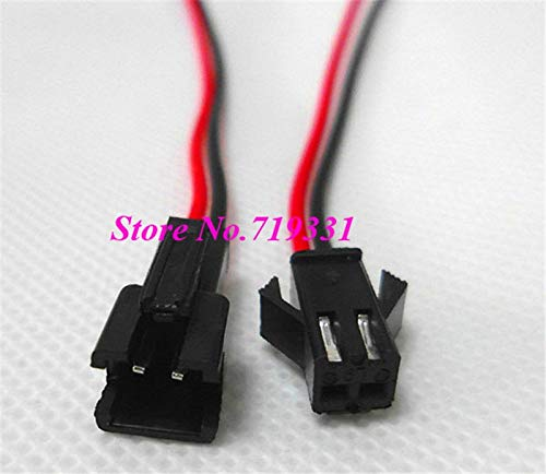 AjaxStore - 10-100 pairs 2pin JST connector 15cm wire single color SMD 5050 3528 3014 5630 LED Strip Strips 2Pin Connector Cable 22AWG