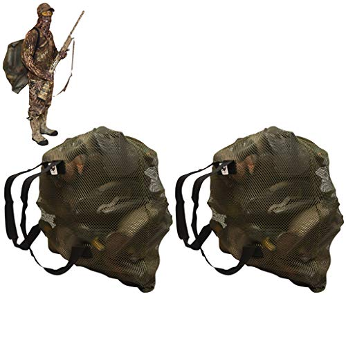 DecoyPro Mesh Decoy Bags - 2 Decoy Bag Bundle - Duck Decoy Bag - Goose Decoy Bag - Turkey Decoy Bag (Best Goose Decoys For The Money)