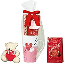 Starbucks Valentines Day Tall Starbucks Mug with Lindor Chocolate, Stuffed Bear and Hot Cocoa - Styles May Vary