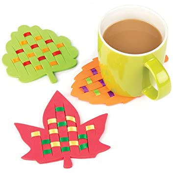 Baker Ross Leaf Weaving Coaster Kits For Children To Design Make And