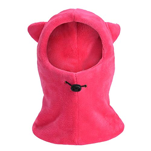 8caf16f7bf815 Kids Winter Windproof Warm Balaclava Hat Furry Fleece Neck Warmer Ski  Riding Face Cover Mask