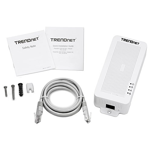 TRENDnet Powerline 200 AV PoE+ Adapter, PoE+ Output Port Supports PoE (15.4W) and PoE+ (30W) Devices, Range up to 300m (984 ft.), TPL-331EP by TRENDnet (Image #4)