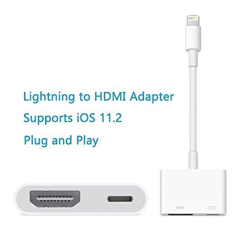 Hdmi Digital Av (Lightning Digital AV Adapter,Goodock Lightning to HDMI Adapter for iPhone, iPad and iPod)