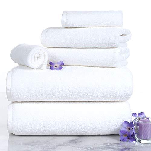 Lavish Homes 67-0017-W 6 Piece Cotton Towel Set44; White