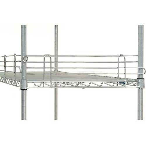 Nexel Wire Shelf Ledge, Silver Epoxy Finish, 30