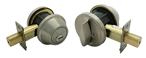 Mul-T-Lock Cronus High Security Grade 2 Single Cylinder Dead-Bolt w/Thumb Turn 2-3/8 or 2-3/4 Adjustable Backset for Commercial And Residential Metal Or Wood Doors (Stainless Steel)
