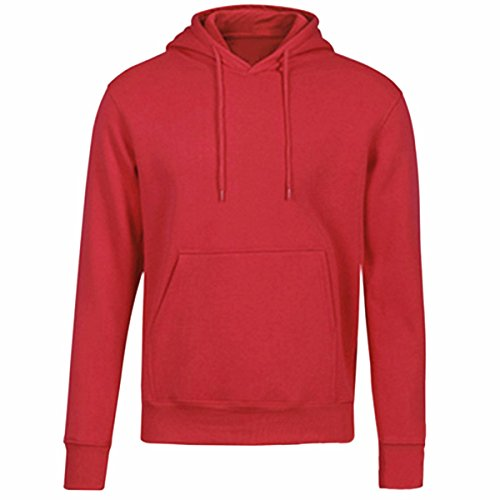 Drawstring Fleece Pullover (Samtree Women's Fleece Pullover Hoodie Sweatshirt Casual Drawtring Sweater(XL(14-16),Red))