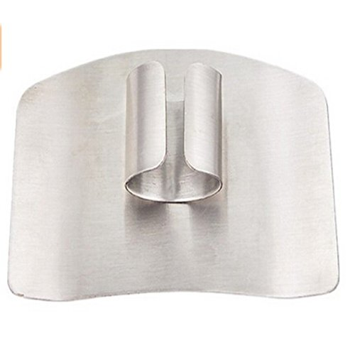 Woreach Convenient Style Kitchen Tool Finger Guard Stainless Steel Finger Protector Avoid Hurting When Slicing and Dicing