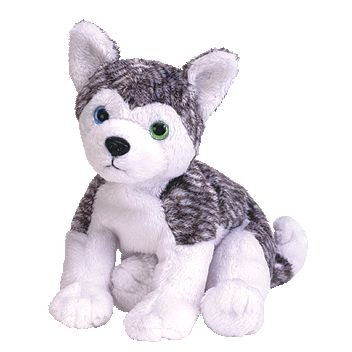 (TY Beanie Baby - MUKLUK the Husky Dog (Blue & Green Eyes))