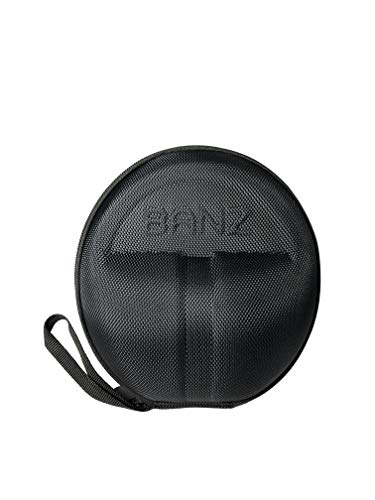 Baby Banz Earmuffs CASE - Protective Premium Hard EVA Case - Holds BANZ Baby Size Earmuffs and Bluetooth Baby Headphones - Protect Children Hearing Earmuffs - Travel Case (Black)