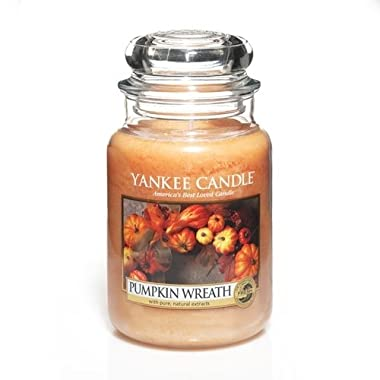 Yankee Candle Pumpkin Wreath Large Jar Candle, Fresh Scent