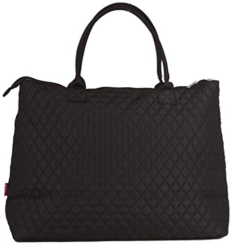 NGIL Solid Black Quilted Tote Bag]()
