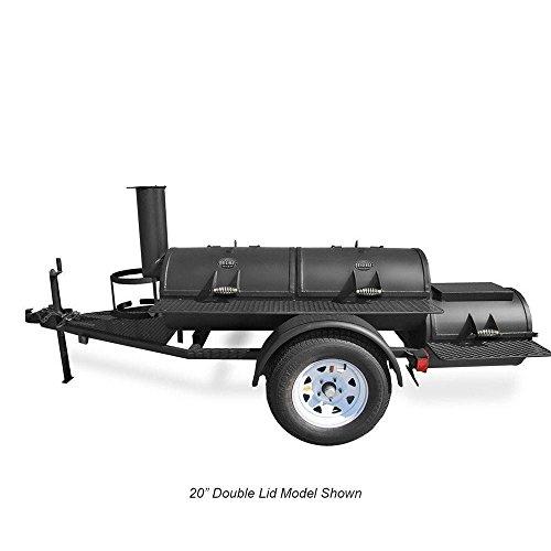 Portable Luling Smoker - Trailer Mounted (Bbq Smoker Trailer)