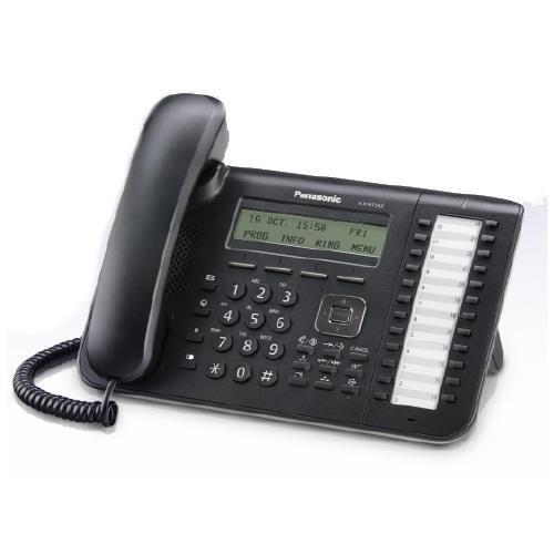 Panasonic Business Telephones KX-NT543-B 3-Line Backlit Lcd Display- 24 Flexible by (3 Line Backlit Lcd)