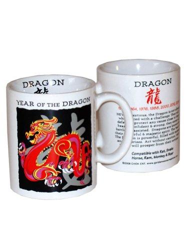 Goldenwave Creations Asian Oriental Chinese Zodiac Coffee & Tea Mug Year of the Dragon: Birth years 1928, 40, 52, 64, 76, 88, 00, 2012