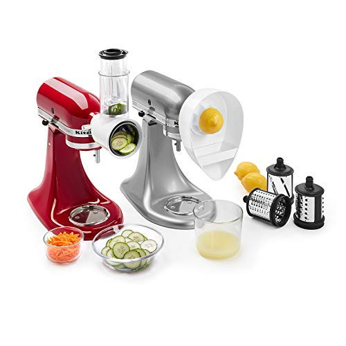 KitchenAid Slicer/Shredder and Citrus Juicer Attachments (Kitchenaid Je Citrus Juicer Stand Mixer Attachment)