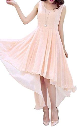 時代仲介者大宇宙[ルナー ベリー] ドレス フィッシュテール ワンピース シフォン ノースリーブ レディース 1412