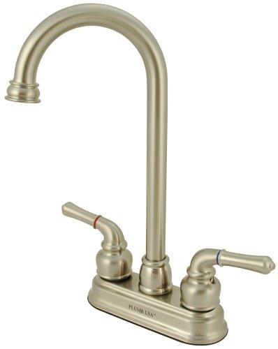 4'' Bar Faucet, Satin Nickel, Washerless, By Plumb USA by PlumbUSA