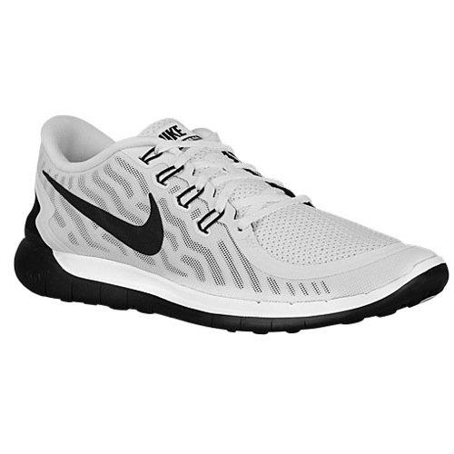 Nike Mens Free 5.0 Running Shoes (White, Black) Sz. 14