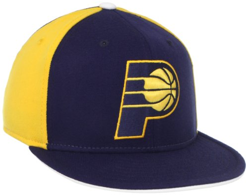 NBA Indiana Pacers Flat Brim Flex Fit Wool Hat, Small/Medium