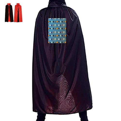Halloween Wallpaper Double Hooded Robes Cloak Knight Cosplay Costume 35.5(in) ()