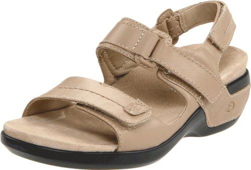 Aravon Womens Katy,Taupe Leather,8 N (AA)