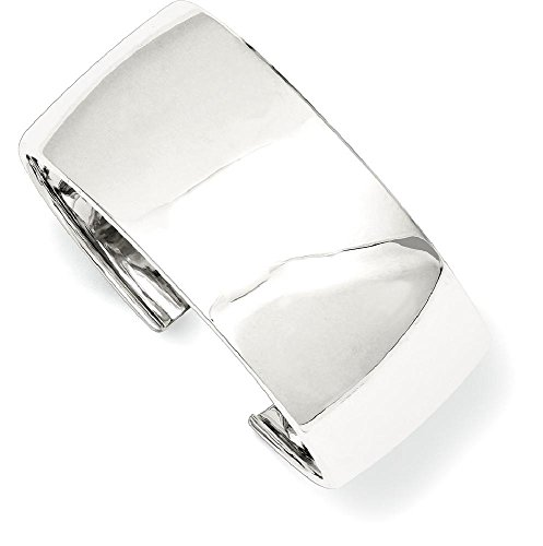 ICE CARATS 925 Sterling Silver 30mm Cuff Bangle Bracelet Expandable Stackable For Women by ICE CARATS