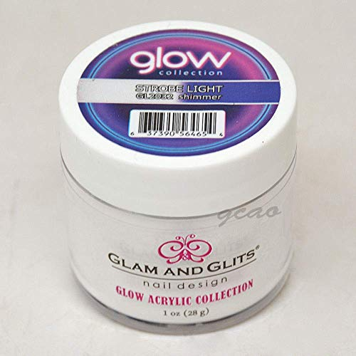 Glam and Glits ACRYLIC Glow in the Dark Nail Powder - Strobe Light 2032
