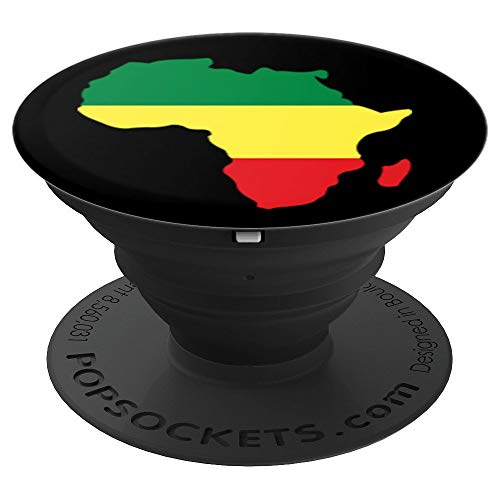 Africa Rasta Reggae Colors Map - PopSockets Grip and Stand for Phones and ()