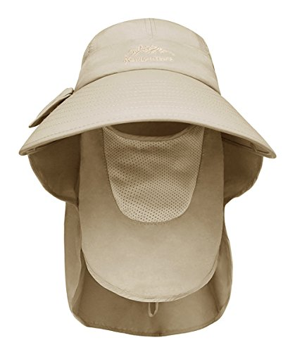 ca9ec09e92ae3 Womens Sun Hats Neck Flap Large Brim UV Protection Foldable Fishing Hiking  Cap Summer Travle Beach Hats