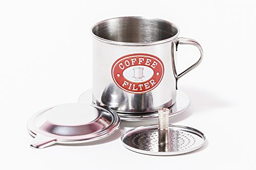Vietnamese Coffee Phin Filter Set. This kit works well with Trung Nguyen ground Coffee beans. Sizes S to XL in 1, or 2 pack. Screw Down Insert (1, Small (6 oz)) (Vietnam Tea Set)
