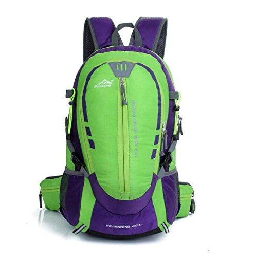 Wmshpeds Outdoor montañismo bolsa deportes masculinos y femeninos en los hombros de mochilero camping paquete de deportes A